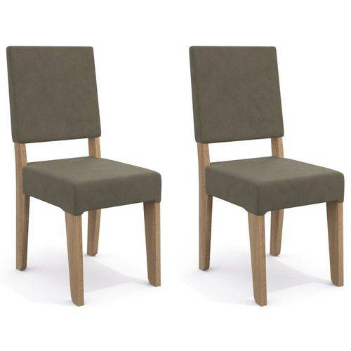 Kit 2 Cadeiras Cad106 para Sala de Jantar Nogal/morel - Kappesberg