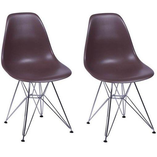 Kit 2 Cadeiras Eames Eiffel Café PP OR Design 1102