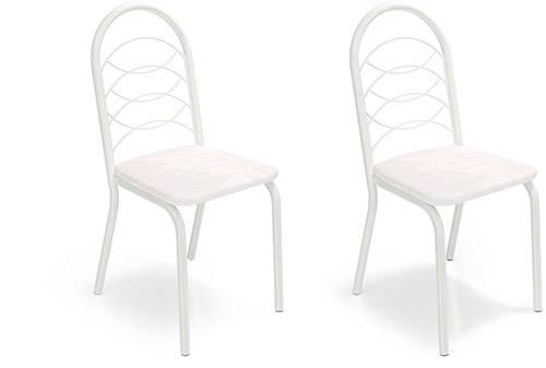 Kit 2 Cadeiras Holanda Branca - Kappesberg