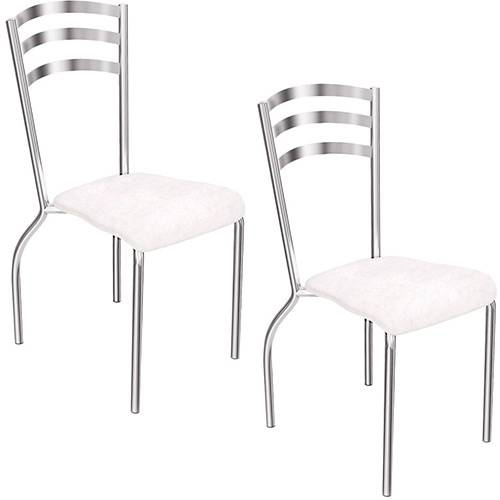 Kit 2 Cadeiras Portugal Branca - Kappesberg