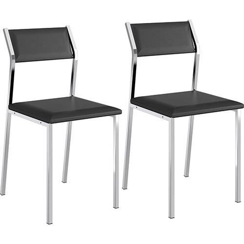 Kit 2 Cadeiras Sofia 1709 Preta Carraro