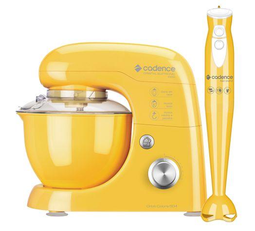 Kit Cadence Colors Amarelo - Batedeira e Mixer - 127V