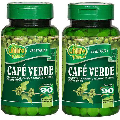 Kit 2 Cafés Verde Unilife Termogenico (180Capsulas)