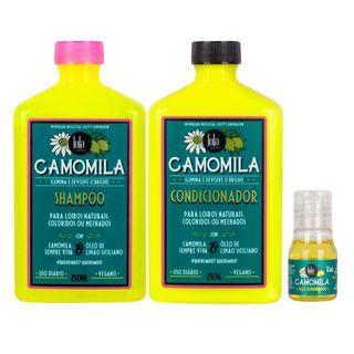 Kit Camomila Lola Cosmetics - Shampoo + Condicionador + Óleo Kit