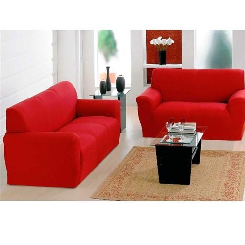 Kit Capa para Sofá Paris 2 e 3 Lugares Havan Vermelho Vermelho