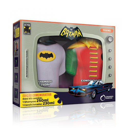 Kit Capilar Infantil Batman Shampoo 250ml + Condicionador 230ml