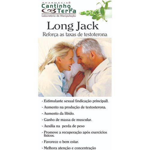 Kit Capsula Long Jack 300mg - 3 Potes com 60caps Cada