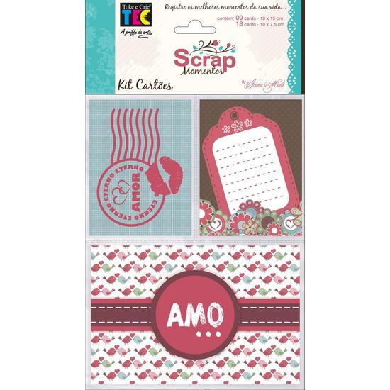 Kit Cartões para Scrap Momentos Amor KCSM003 - Toke e Crie By Ivana Madi