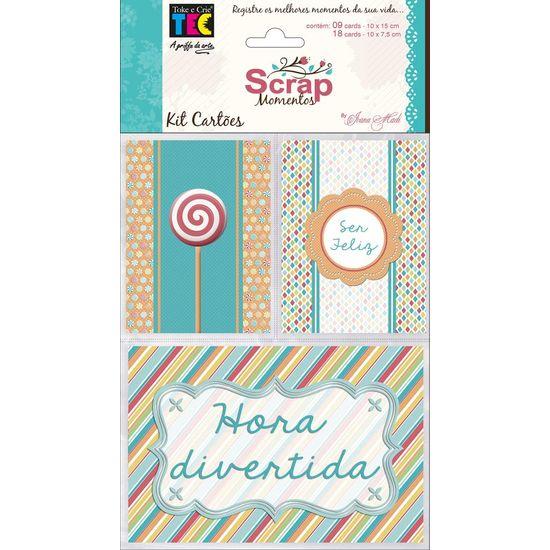 Kit Cartões para Scrap Momentos Aniversário KCSM006 - Toke e Crie By Ivana Madi