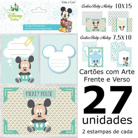 Kit Cartões para Scrap Momentos Baby Mickey