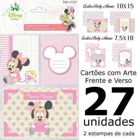 Kit Cartões para Scrap Momentos Baby Minnie
