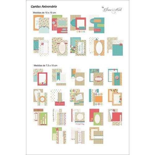 Kit Cartões para Scrap Momentos By Ivana Madi - Aniversário