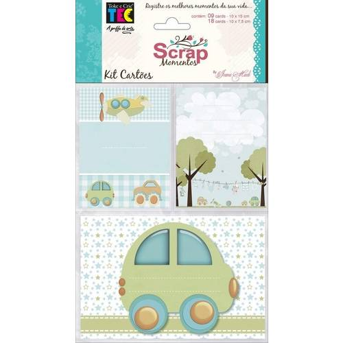 Kit Cartões para Scrap Momentos By Ivana Madi - Bebê Menino
