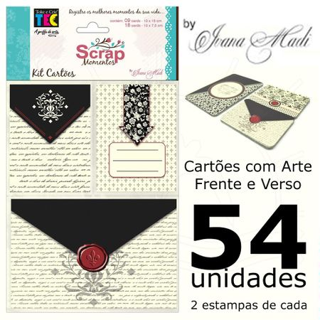 Kit Cartões para Scrap Momentos By Ivana Madi - Celebrate