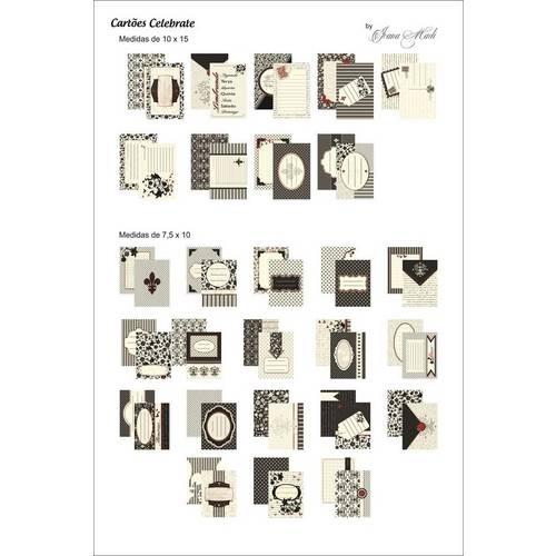 Kit Cartões para Scrap Momentos Celebrate Kcsm004 - Toke e Crie By Ivana Madi