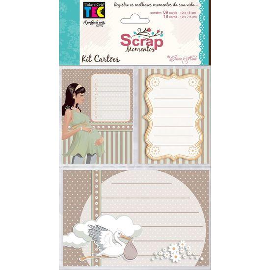Kit Cartões para Scrap Momentos Gravidez KCSM005 - Toke e Crie By Ivana Madi