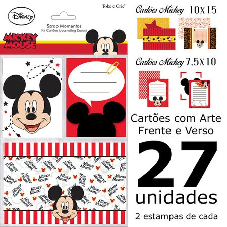 Kit Cartões para Scrap Momentos Mickey Mouse