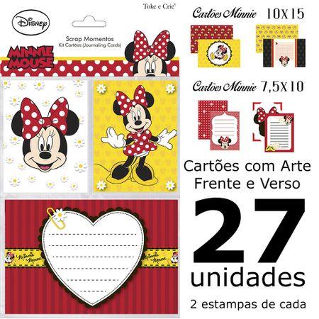 Kit Cartões para Scrap Momentos Minnie Mouse