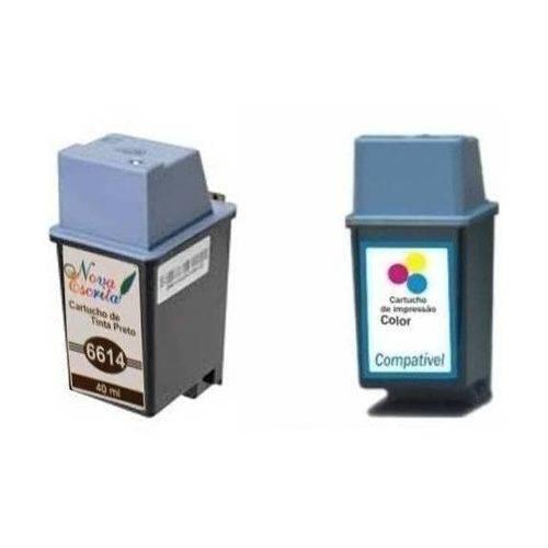 Kit 2 Cartuchos de Tinta Similares HP 20 Preto C6614A e HP 49 Colorido 51649A Compatível HP DeskJet 610 610c 612 612c 630c 632c 640c 642c 648c 656 Cvr 656c Color Inkjet CP1160 Digital Copier 610