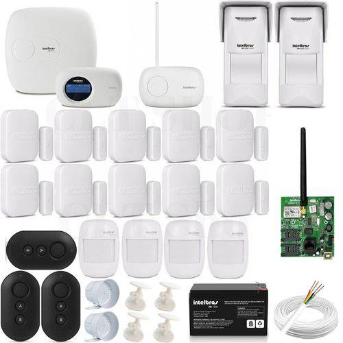 Kit Central Alarme Amt 4010 Smart Intelbras Acessorios Kit 3