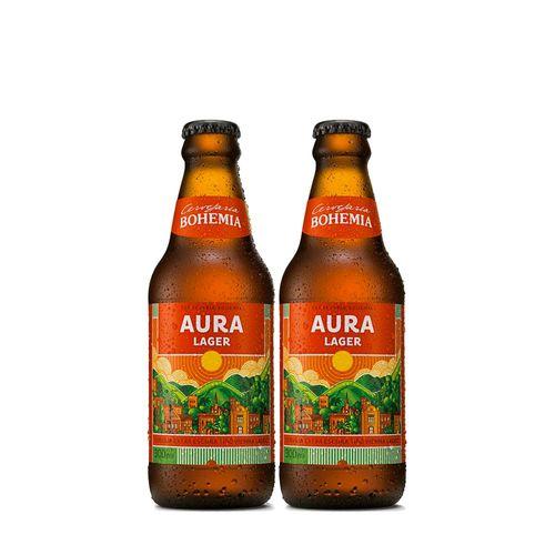 Kit 2 Cervejas Bohemia Aura Lager 300ml