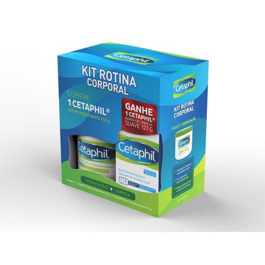 Kit Cetaphil Creme Hidratante 453g Gratis Sabonete Limpeza Suave 127g