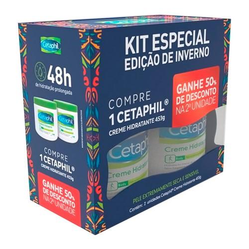 Kit Cetaphil Creme Hidratante 2 Unidades 453g Cada Ganhe 50% de Desconto na 2ª Unidade