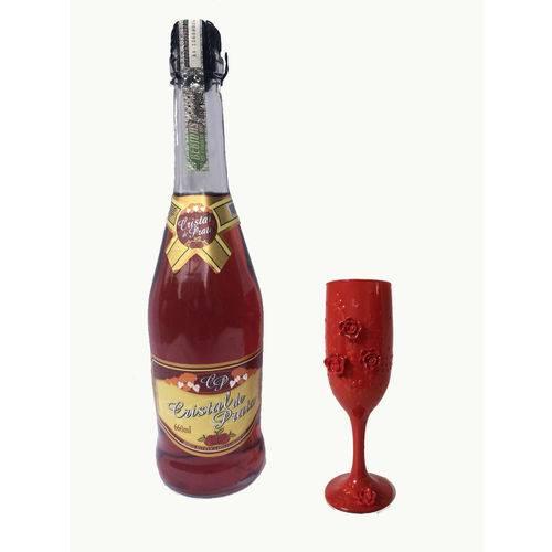Kit Champanhe e Taça Vermelha