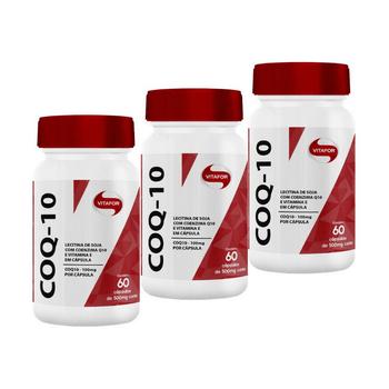 Kit 3 Coenzima Coq-10 Vitafor 60 Cápsulas