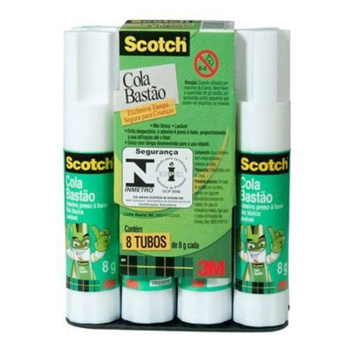 Kit Cola Bastão 8g Scotch 3m C8 - com 8 Unidades