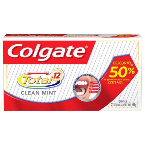 Kit Colgate Total-12 2x90 G com 50% de Desconto na 2º Embalagem