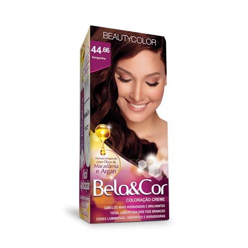 Kit Coloração Bela & Cor 44.66 Borgonha Beauty Color
