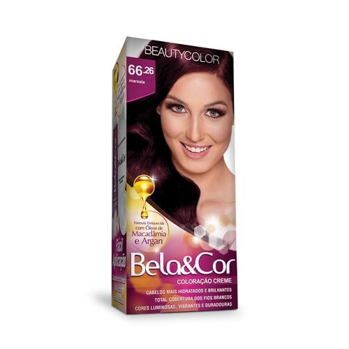 Kit Coloração Bela & Cor 66.26 Marsala Beauty Color