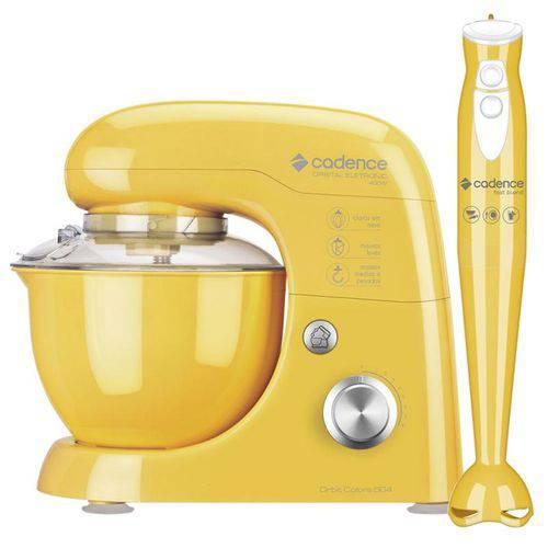 Kit Colors Amarelo Batedeira e Mixer Cadence 220v