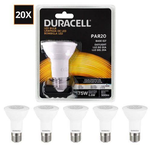 Kit com 20 Lâmpadas Led Duracell PAR20 Branca 6.8W - Duracell
