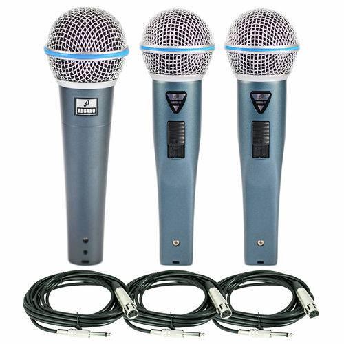 Kit com 02 Microfones Rhodon-8b + 1 Rhodon-8 Cabos Xlr-p10