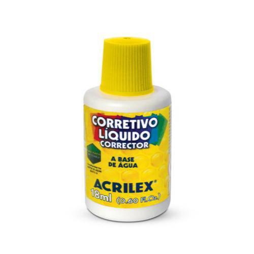 Kit com 06 Corretivos Líquido 18 Ml Acrilex