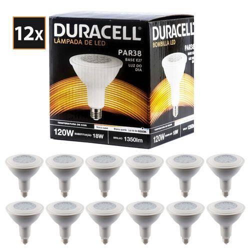 Kit com 12 Lâmpadas de Led Duracell Par38 Branca 18w