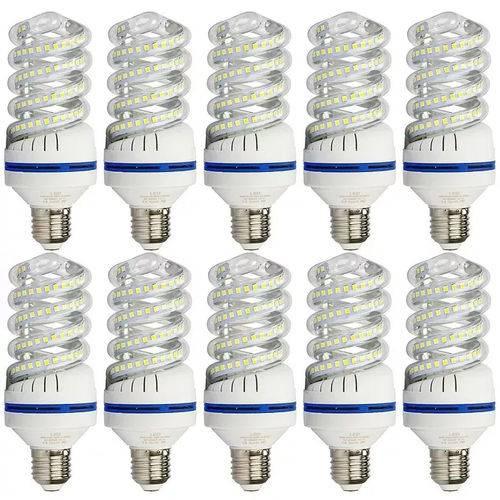 KIT com 10 Lampadas Espiral de Led 16w