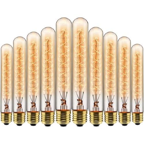 Kit com 10 Lâmpadas Filamento Carbono T30 40w 127V 2000K 48LCART30001 Elgin