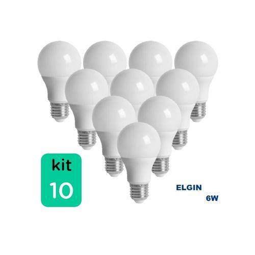 Kit com 10 Lâmpadas LED BULBO 6W ELGIN A55