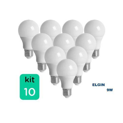 Kit com 10 Lâmpadas LED BULBO 9W ELGIN A60