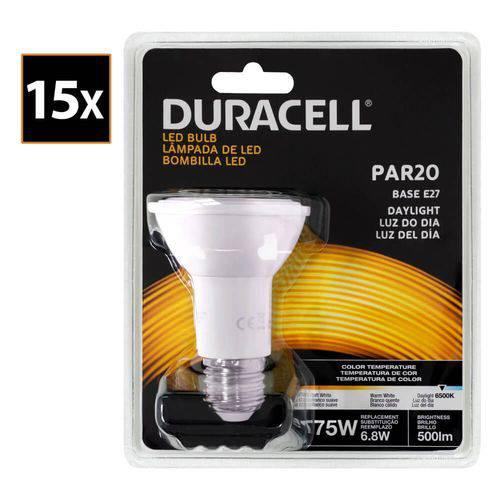 Kit com 15 Lâmpadas Led Duracell PAR20 Branca 6.8W - Duracell