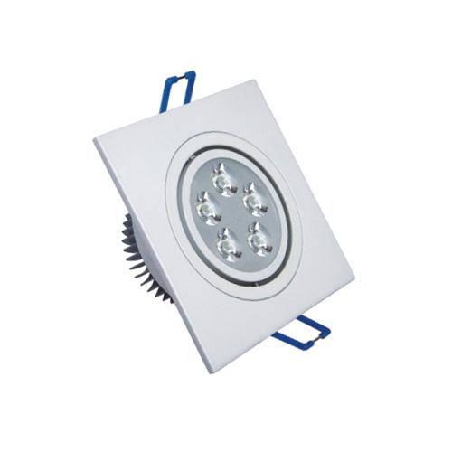 Spot Quadrado Branco Frio Led Direcionável para Teto Sanca e Gesso - Branco 5w