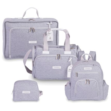 Kit com 4 Bolsas - Vintage + Anne + Noah + Necessaire - Moletom Cinza - Masterbag