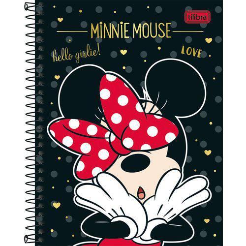 Kit com 4 Caderno (capa Dura) Minnie 160 Folhas Tilibra