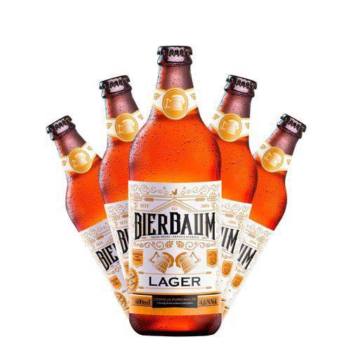 Kit com 5 Cervejas Bierbaum Lager 600ml