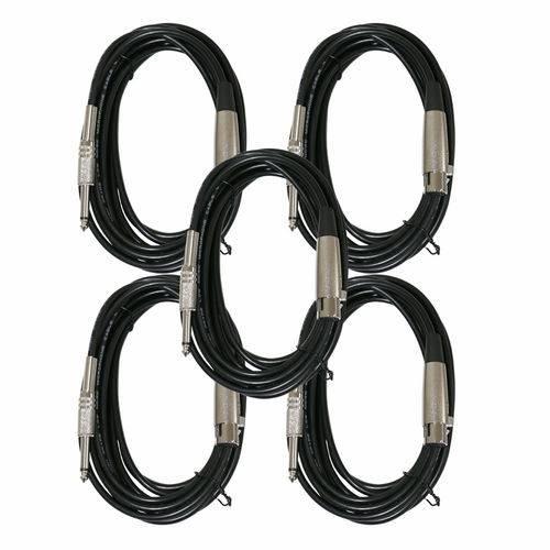 Kit com 5 Microfones Arcano Dinamicos com Fio Rhodon-8bkit P10