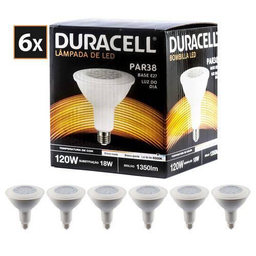 Kit com 6 Lâmpadas de Led Duracell Par38 Branca 18w
