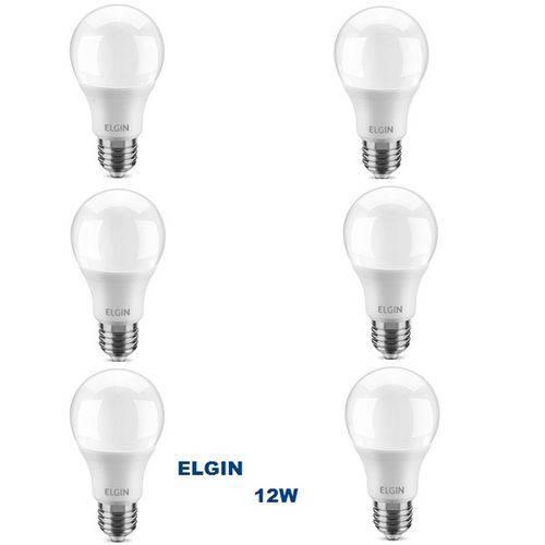Kit com 6 Lâmpadas LED BULBO 12W ELGIN A60